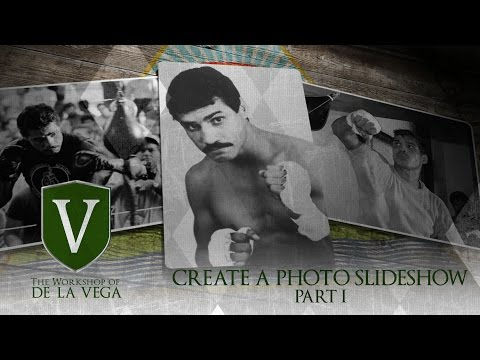 After Effects Tutorial - How to Create a Photo Slideshow Part 1 (ENGLISH & ESPAÑOL)