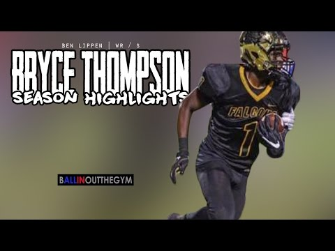 Bryce Thompson can BREAK Ankles: (2016 Ben Lippen Football Highlights)