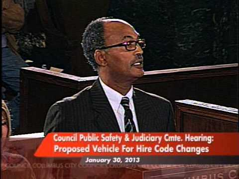 Columbus City Council Briefing - Vehicle for Hire Code Chang