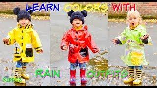 Learn Colors With RAIN OUTFITS & Rain Rain Go Away Nursery Rhyme