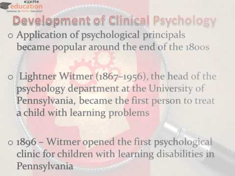 History of Clinical Psychology - Excite Education