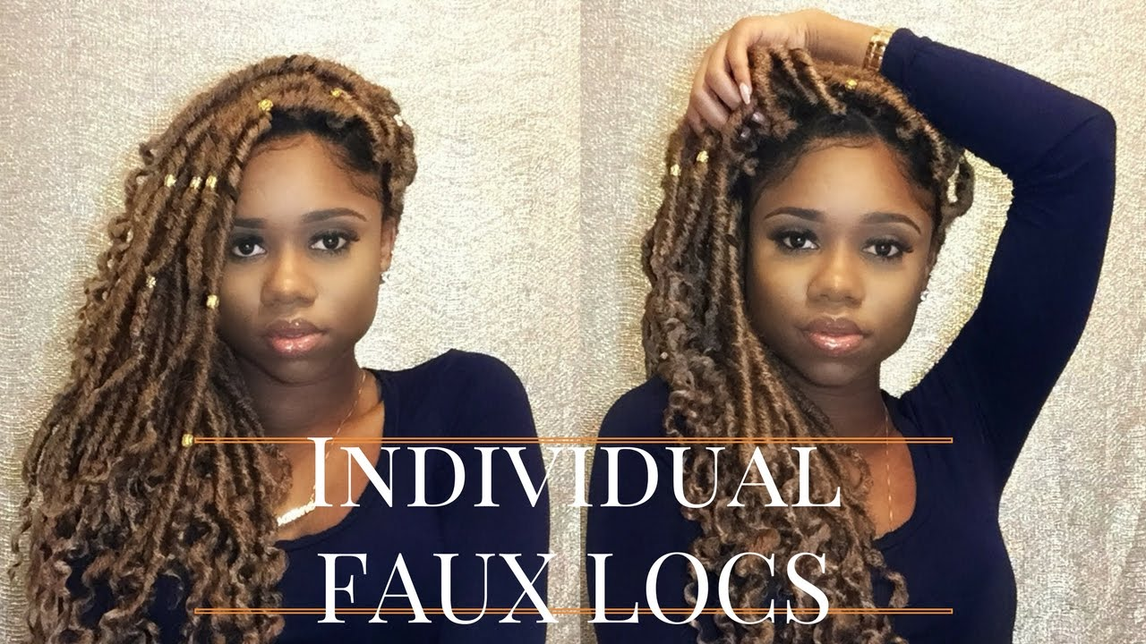 Individual Crochet Faux Locs Protective Style Youtube