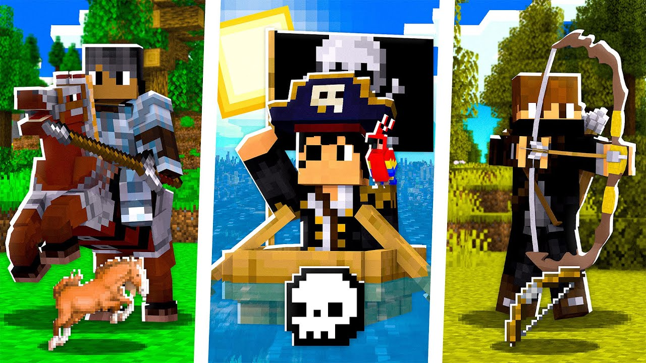 Minecraft MAS temos CLASSES DIFERENTES! #2 🎠🏴☠️🏹