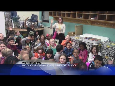 Weather 101 with Rob Fowler at Devon Forest Elementary School