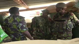 Un-Aired Exclusive: President Uhuru visits Amison soldiers in Dhobley-Somalia
