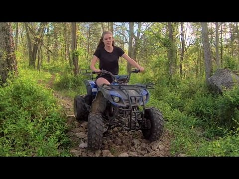 Tao Tao Cheetah & Tforce 110cc ATV - Cruising Through The Woods Behind The House