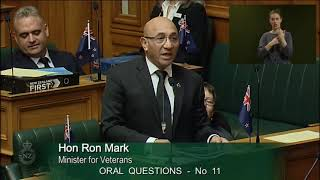 Question 11 - Mark Patterson to the Minister for Veterans' Affairs thumbnail