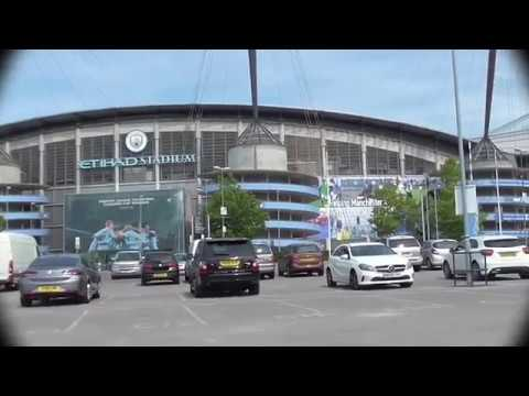 Manchester:  City's ETIHAD STADIUM to United's OLD TRAFFORD