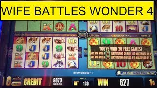 32 SUPER FREE GAMES!  BUFFALO WONDER 4 SLOT MACHINE!
