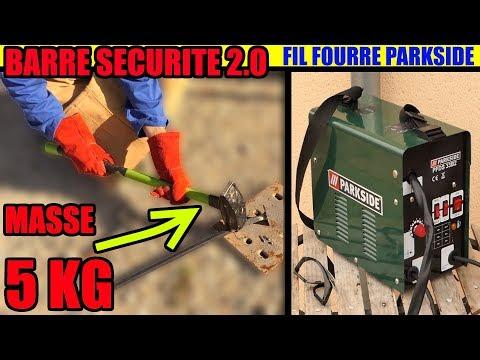 Poste à Souder Fil Fourré PARKSIDE LIDL Barre De Sécurité.test à 90 A