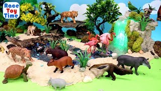 Wild Animals Toys Fun For Kids - Let's Learn Zoo Animals Names!