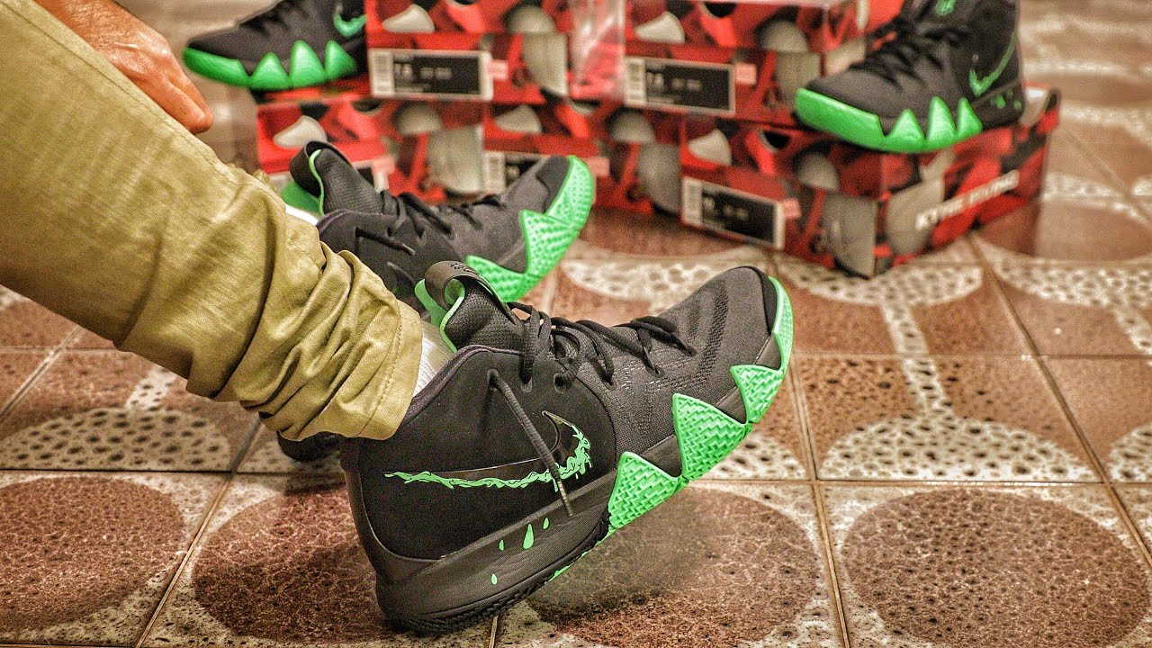 the latest 38b77 5c845 Nike Outlet Find: Nike Kyrie 4 Halloween Sneaker Unboxing and On-Foot