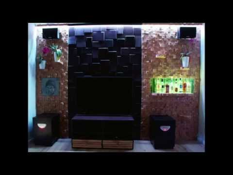 tv wand mit bar obi selbstgemacht projekt youtube