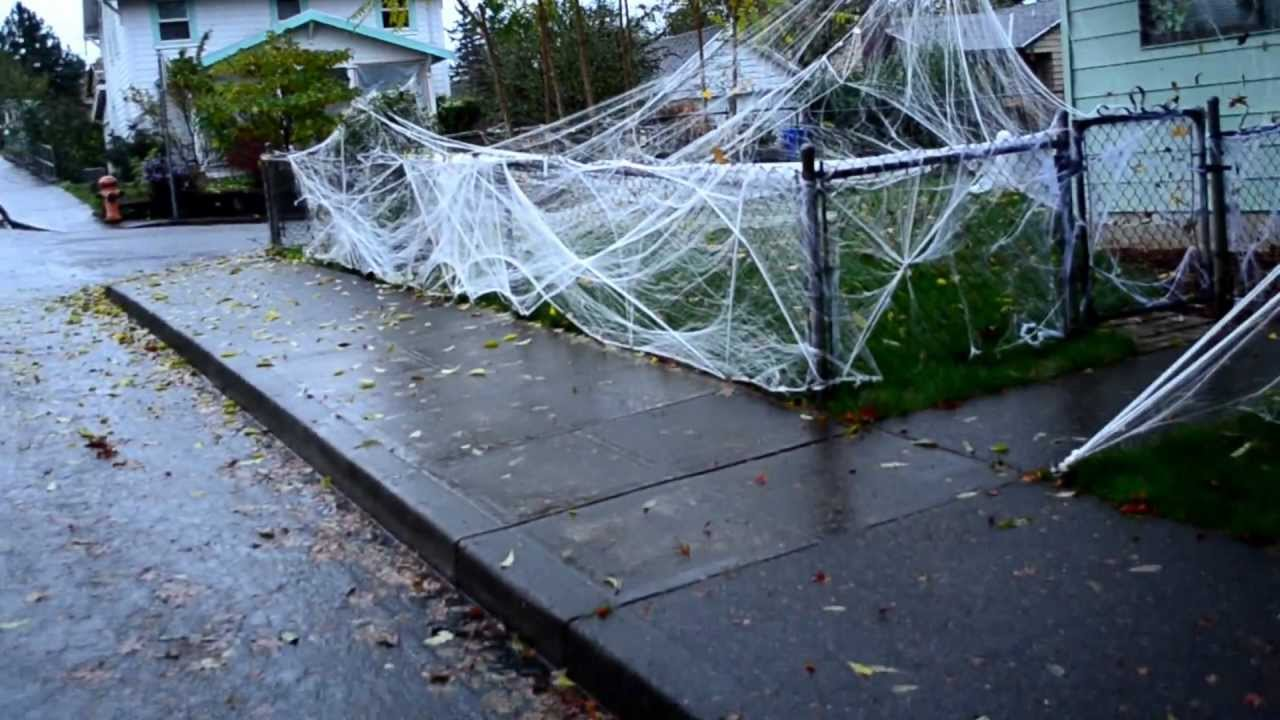 spiderweb halloween decorations halloween oct 312012 happy halloween front youtube - Halloween Spider Web Decorations