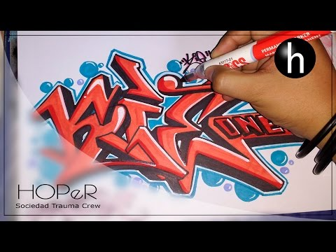 Drawing graffiti on paper #8 | Exchange | Kie_one_graffiti