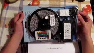 Обзор SMD LED RGB ленты на светодиодах 3528(Обзор SMD LED RGB ленты на светодиодах 3528 в полной комплектации: блок питания, блок управления, пульт ДУ и сама..., 2012-10-31T20:34:45.000Z)