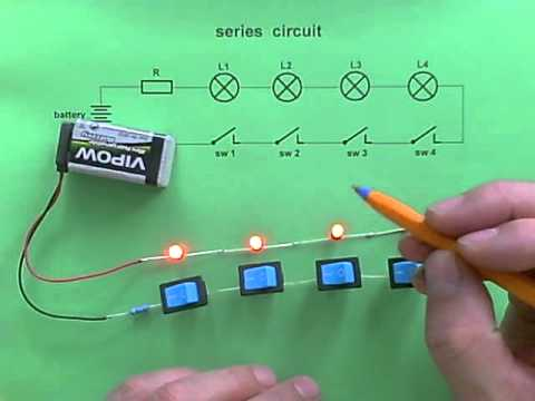 series circuit - 4 leds - youtube led wiring series button