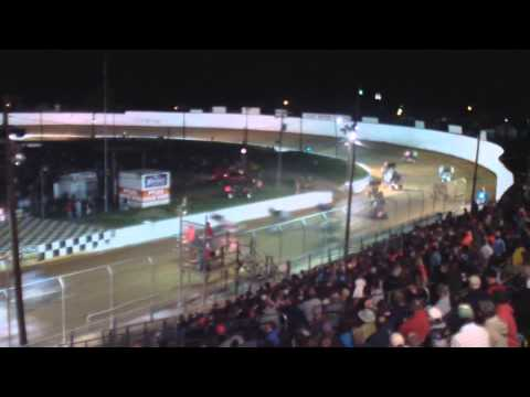 Port Royal Speedway 410 and 305 Sprint Car Highlights 6-14-14