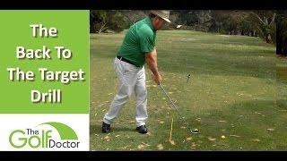 A Weird But Gręat Golf Drill - The Back To Target Golf Drill