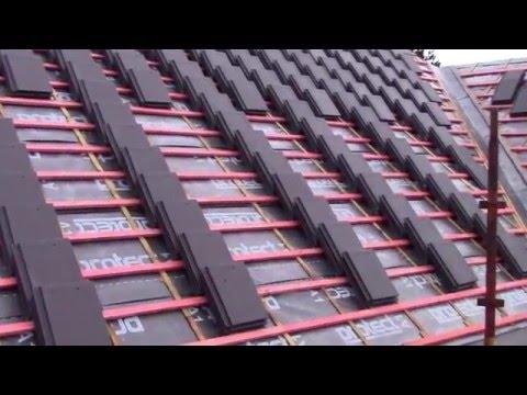 Roof tiling.