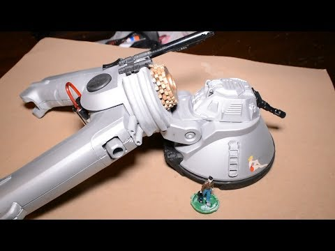 Model Space Ship Made From Junk Parts