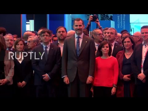 Spain: King Felipe VI, Catalonian Pres. and Spanish VP visit Barcelona's MWC