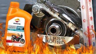 Repsol Moto Sport 4T 10W40 Jak skutecznie olej chroni silnik? 100°C