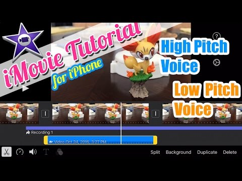 iMovie for iPhone Tutorial - High Pitch Squeaky Voice and Low Pitch Voice