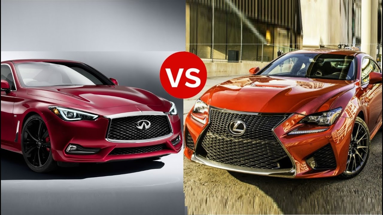 2017 infiniti q60 vs lexus rc youtube. Black Bedroom Furniture Sets. Home Design Ideas
