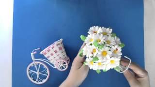 Розыгрыш МК Велосипед с цветочной корзиной из фоамирана.