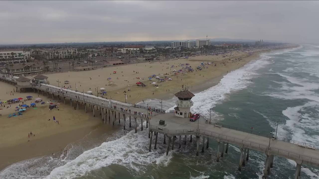 Drone View Of Huntington Beach California 4th July 2016 By Michael Morrisseau