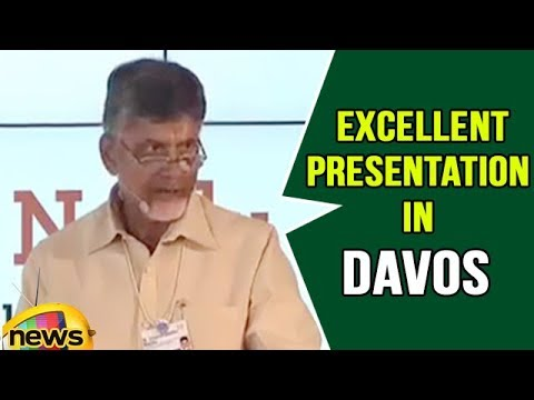 Ap Cm Chandrababu Naidu Excellent Presentation In Davos