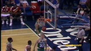 Larry Bird 1985: 60pts vs. Atlanta Hawks