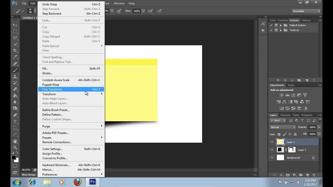 How to make a sticky note in photoshop cs6 youtube how to make a sticky note in photoshop cs6 baditri Gallery