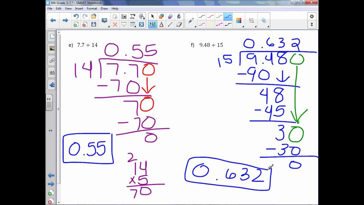 how to do division with decimals