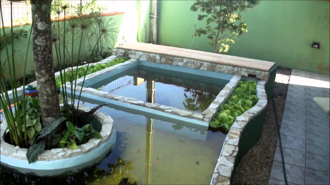 Lago ornamental de alvenaria com carpas coloridas koi for Como criar peces koi