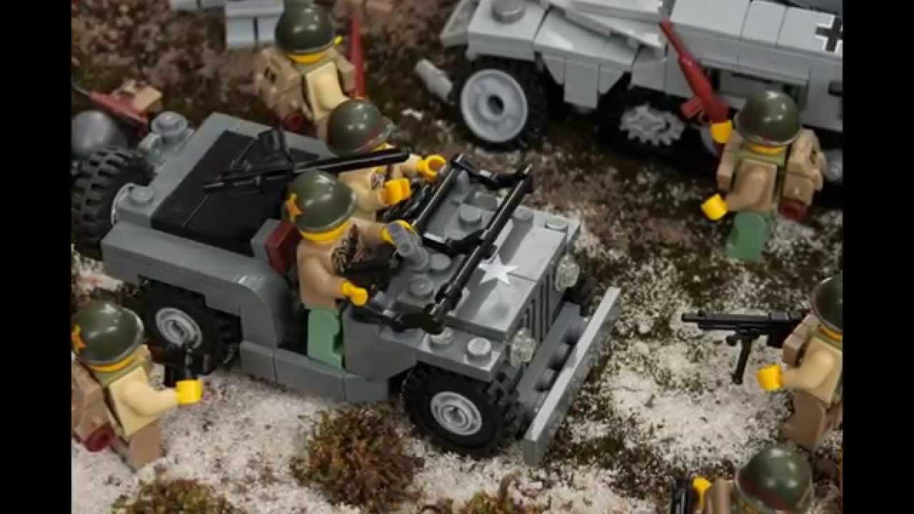 Lego wwii ww2 diorama somewhere in france 1944 youtube for Siege lego france