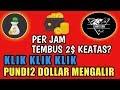 KLICK CASH HANYA KLIK2 BISA HASILKAN DOLLAR, APLIKASI PENGHASIL UANG DOLLAR & BITCOIN MINIMUM WD 2$