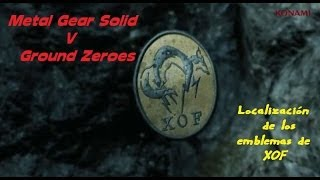 Metal Gear Solid V Ground Zeroes // Localización de las insignias de xof