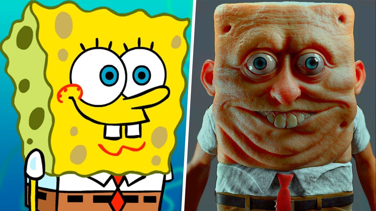 Spongebob In Real Life Main Characters Youtube