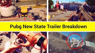 25 Secret Hidden Features in Pubg New State Trailer || PUBG NEW STATE TRAILER BREAKDOWN