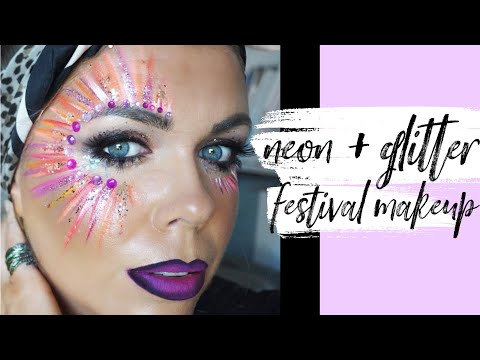 Easy Festival Face Paint Glitter Makeup