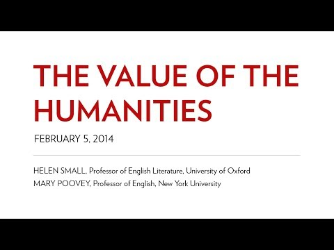 The Value of the Humanities by Helen Small