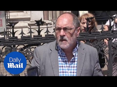 Patrick Mahoney speaks outside The Royal Courts of Justice - Daily Mail