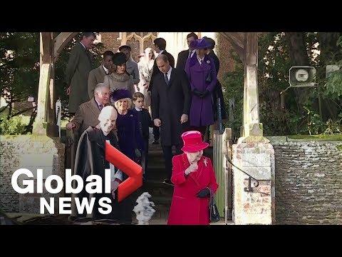 Royal Family leaves