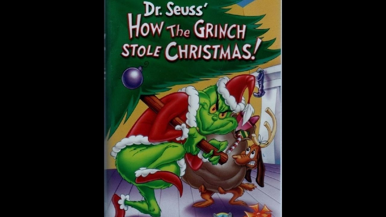 How The Grinch Stole Christmas 1966 Movie Poster.Opening To How The Grinch Stole Christmas 1966 2000 Vhs Christmas Special
