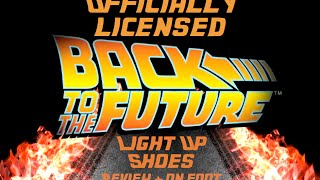 Back to the Future Light Up Shoes Unboxing & On Foot Review