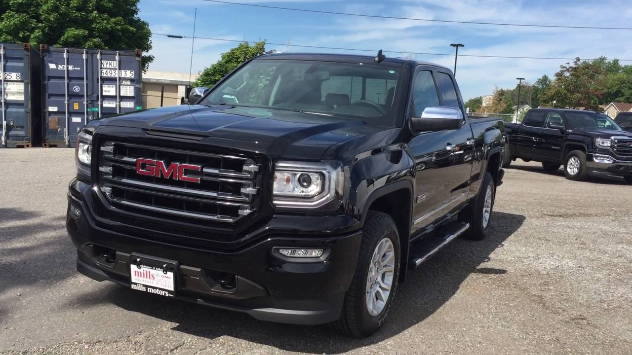 2016 gmc sierra 1500 sle 4wd double cab all terrain running boards black oshawa on stock 161629. Black Bedroom Furniture Sets. Home Design Ideas