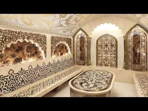 Внутреняя отделка турецкой бани. Хамам изнутри
