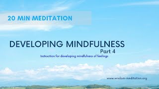 Intro to meditation objects   Feelings   20 Min Meditation